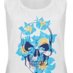 SpreeRocker Blue Skull - Frauen Tanktop-3