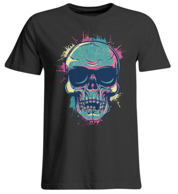 SpreeRocker Neon Skull - Übergrößenshirt-639