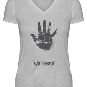 SpreeRocker We Know - V-Neck Damenshirt-17