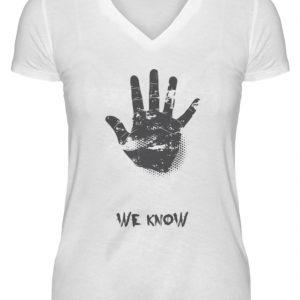 SpreeRocker We Know - V-Neck Damenshirt-3