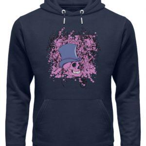 SpreeRocker Pink Skull - Unisex Organic Hoodie-6887