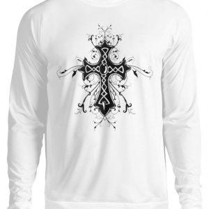 SpreeRocker Black Cross - Unisex Pullover-1478
