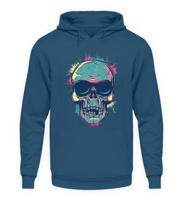 SpreeRocker Neon Skull - Unisex Kapuzenpullover Hoodie-1461