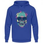 SpreeRocker Neon Skull - Unisex Kapuzenpullover Hoodie-668