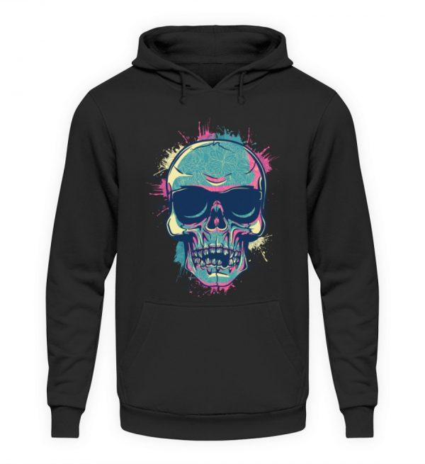 SpreeRocker Neon Skull - Unisex Kapuzenpullover Hoodie-1624