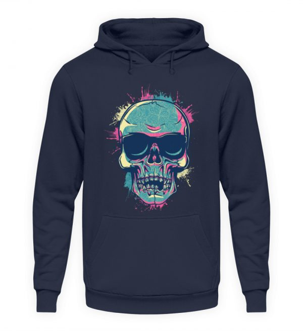 SpreeRocker Neon Skull - Unisex Kapuzenpullover Hoodie-1698