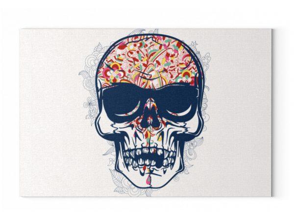 Poster Coloured Skull - Leinwand mit Keilrahmen-6846