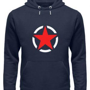 SpreeRocker Red + White Star - Unisex Organic Hoodie-6887