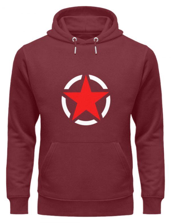 SpreeRocker Red + White Star - Unisex Organic Hoodie-6883