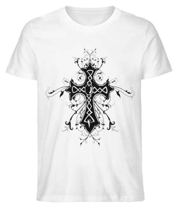 SpreeRocker Black Cross - Herren Premium Organic Shirt-3