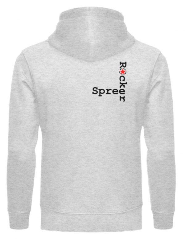 SpreeRocker Black Cross - Unisex Organic Hoodie-6892