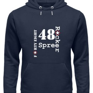 SpreeRocker Forty Eight weiss - Unisex Organic Hoodie-6887