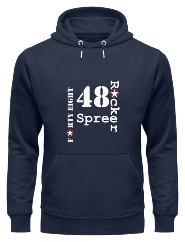 SpreeRocker Forty Eight weiss - Unisex Organic Hoodie-6887
