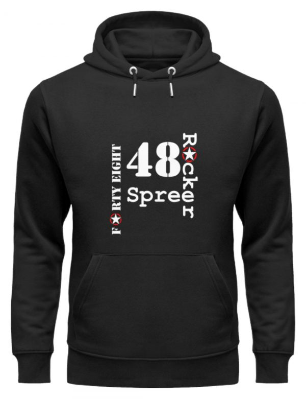 SpreeRocker Forty Eight weiss - Unisex Organic Hoodie-16
