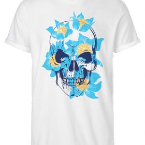 SpreeRocker Blue Skull - Herren RollUp Shirt-3