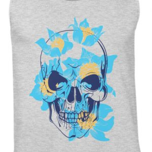 SpreeRocker Blue Skull - Herren Tanktop-236