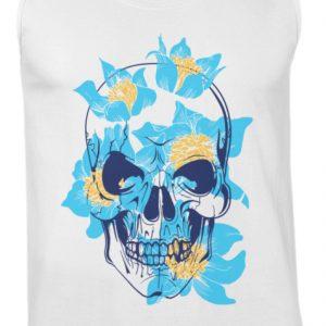SpreeRocker Blue Skull - Herren Tanktop-3