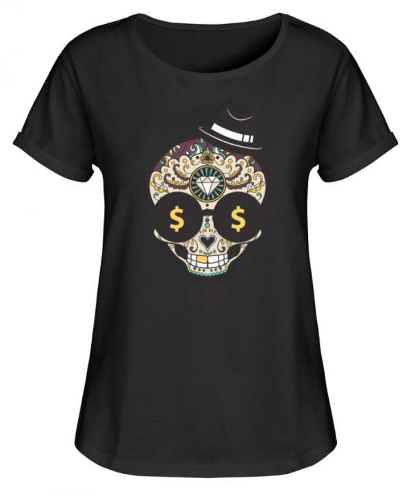SpreeRocker Dollar Skull - Damen RollUp Shirt-16