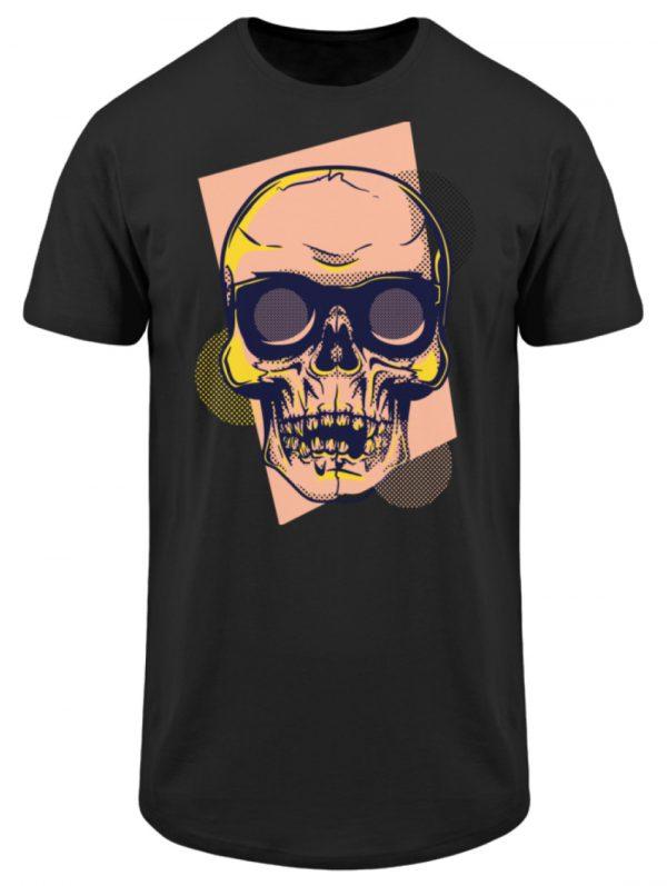 SpreeRocker Orange Skull - Herren Long Tee-16