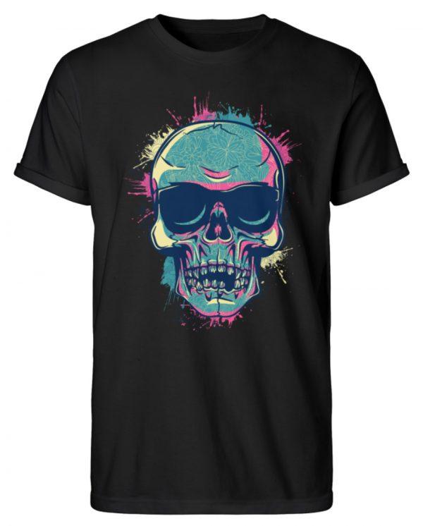 SpreeRocker Neon Skull - Herren RollUp Shirt-16