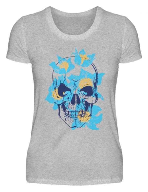 SpreeRocker Blue Skull - Damenshirt-17