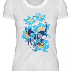 SpreeRocker Blue Skull - Damenshirt-3