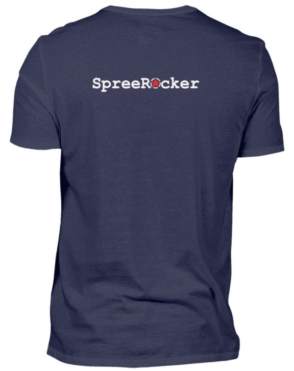 SpreeRocker Orange Skull - Herren V-Neck Shirt-198