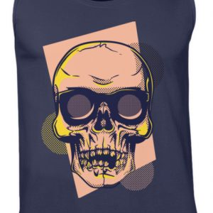 SpreeRocker Orange Skull - Herren Tanktop-198
