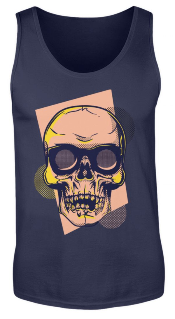 SpreeRocker Orange Skull - Herren Tanktop-198