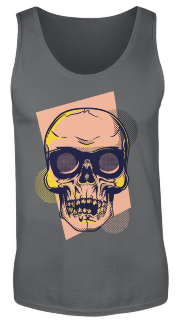 SpreeRocker Orange Skull - Herren Tanktop-70