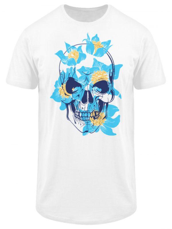 SpreeRocker Blue Skull - Herren Long Tee-3
