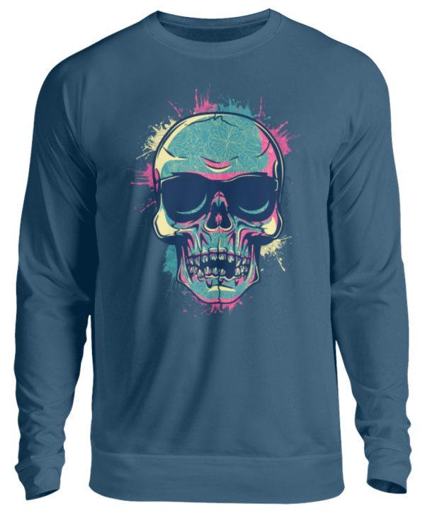 SpreeRocker Neon Skull - Unisex Pullover-1461