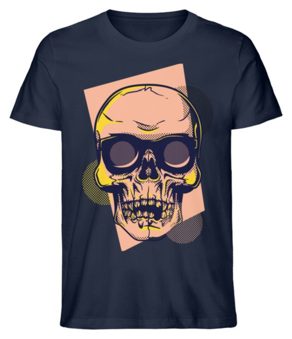 SpreeRocker Orange Skull - Herren Premium Organic Shirt-6887