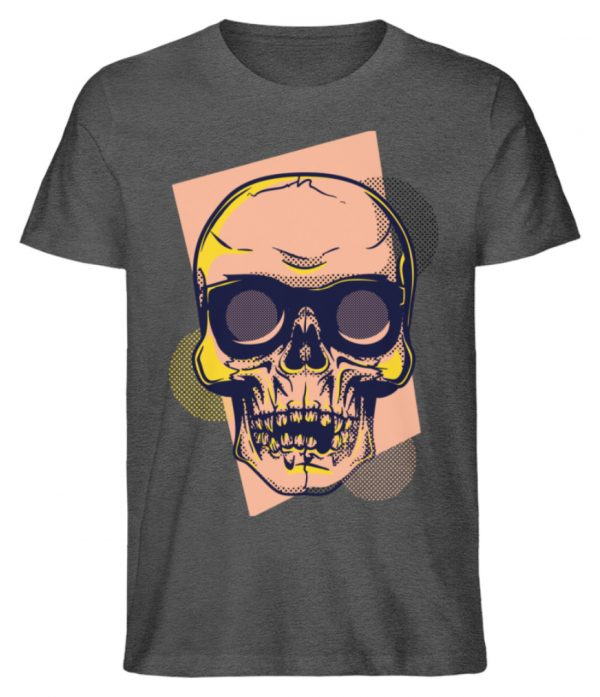 SpreeRocker Orange Skull - Herren Premium Organic Shirt-6898