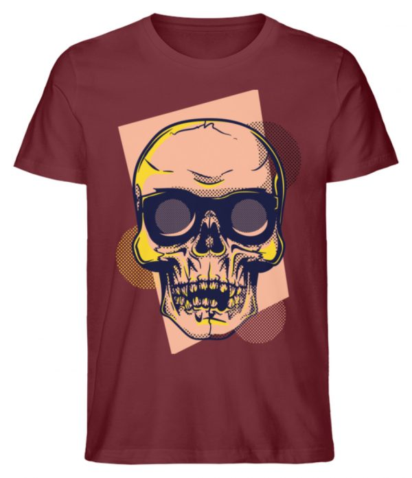 SpreeRocker Orange Skull - Herren Premium Organic Shirt-6883