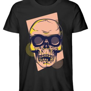 SpreeRocker Orange Skull - Herren Premium Organic Shirt-16