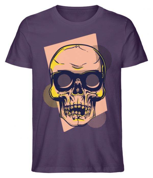 SpreeRocker Orange Skull - Herren Premium Organic Shirt-6884