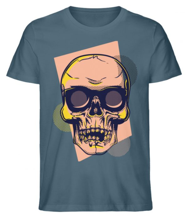 SpreeRocker Orange Skull - Herren Premium Organic Shirt-6895
