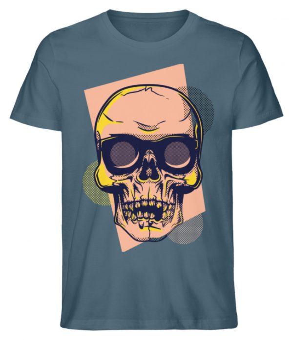 SpreeRocker Orange Skull - Herren Premium Organic Shirt-6895