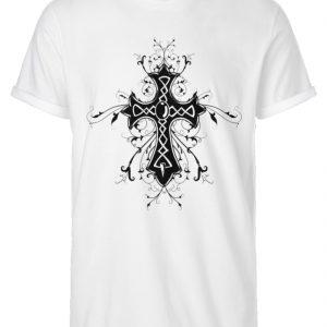 SpreeRocker Black Cross - Herren RollUp Shirt-3