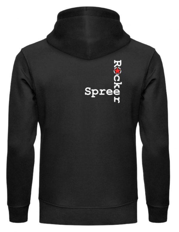 SpreeRocker Red + White Star - Unisex Organic Hoodie-16