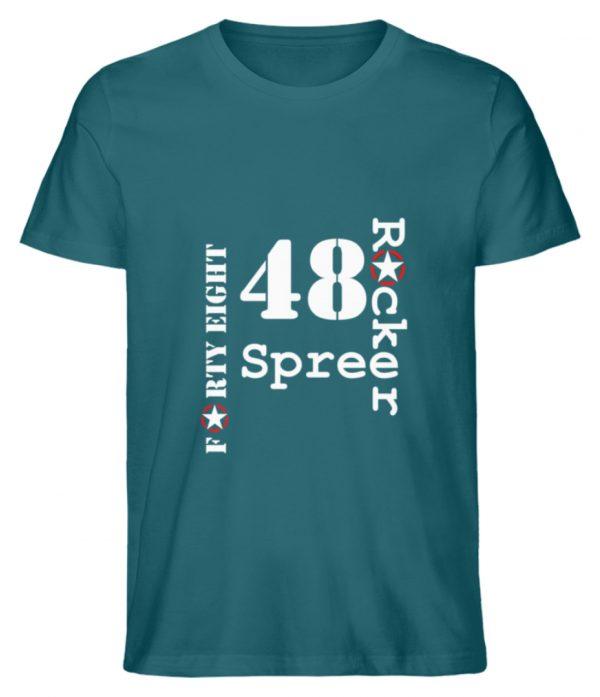 SpreeRocker Forty Eight weiss - Herren Premium Organic Shirt-6889