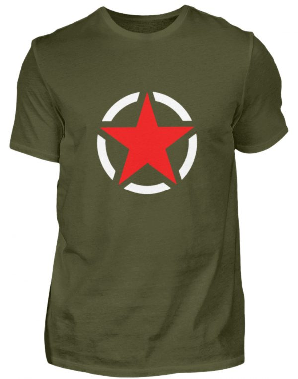 SpreeRocker Red + White Star - Herren Shirt-1109