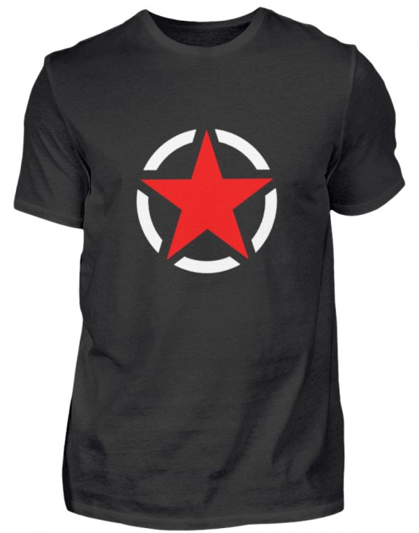 SpreeRocker Red + White Star - Herren Shirt-16