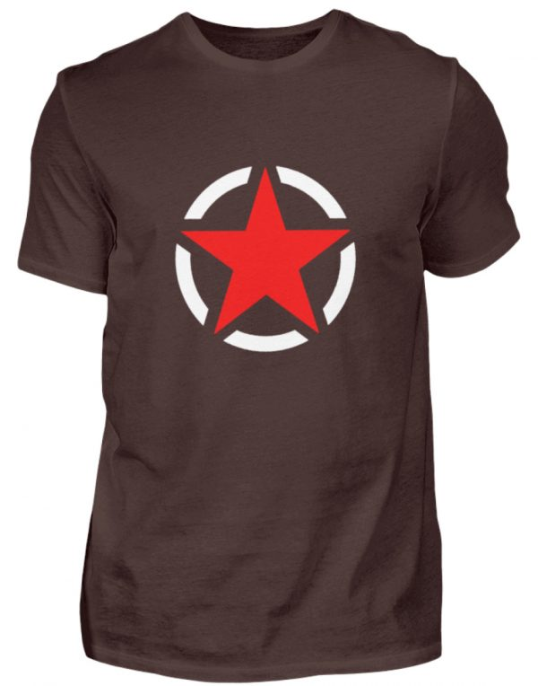 SpreeRocker Red + White Star - Herren Shirt-1074