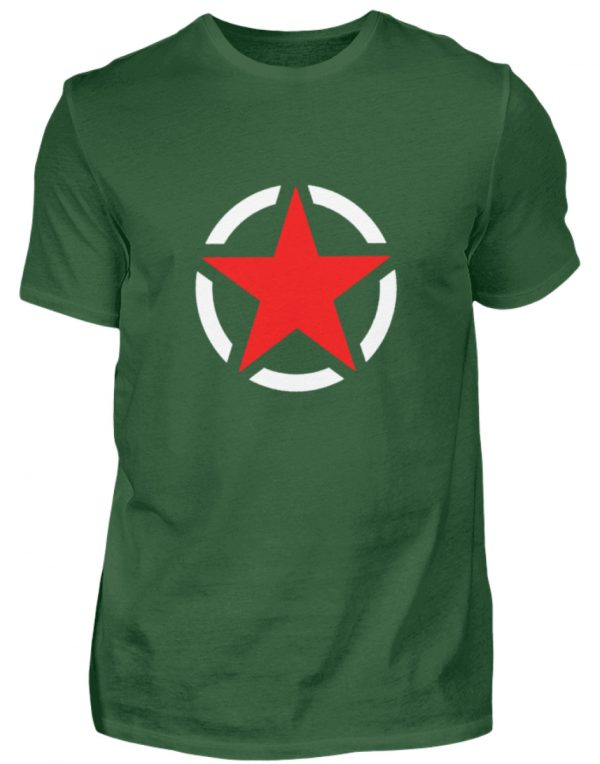 SpreeRocker Red + White Star - Herren Shirt-833