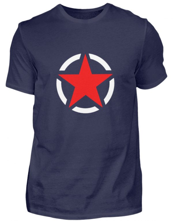 SpreeRocker Red + White Star - Herren Shirt-198