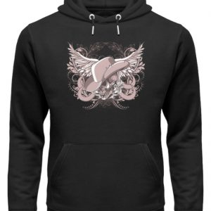 SpreeRocker Rose Skull - Unisex Organic Hoodie-16
