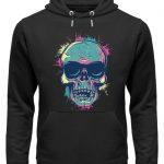 SpreeRocker Neon Skull - Unisex Organic Hoodie-16