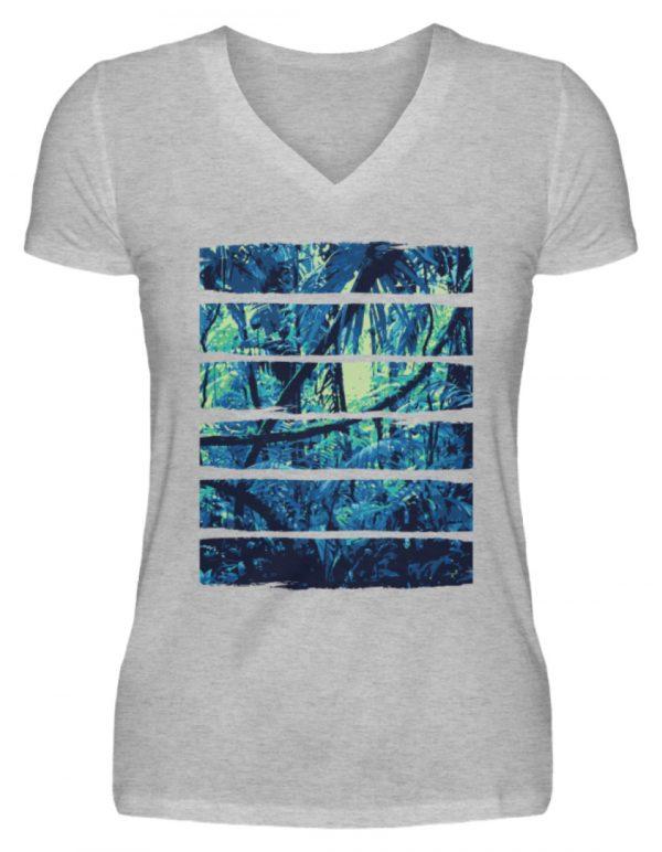 SpreeRocker Blue Jungle - V-Neck Damenshirt-17